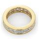 Mens 5ct H/Si Diamond 18K Gold Full Band Ring - image 4