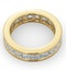 Mens 5ct G/Vs Diamond 18K Gold Full Band Ring - image 4