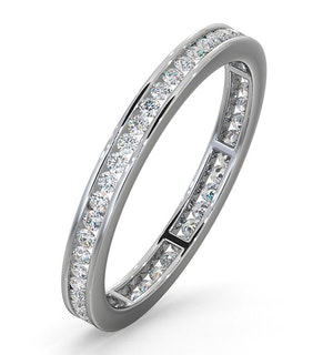 Diamond Eternity Ring Rae Channel Set 0.50ct H/Si in Platinum