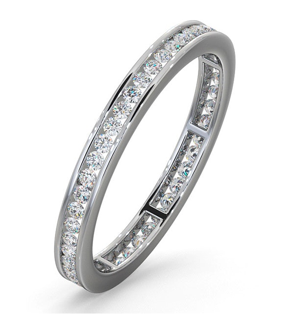 Diamond Eternity Ring Rae Channel Set 0.50ct H/Si in Platinum - image 1