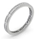 Diamond Eternity Ring Rae Channel Set 0.50ct H/Si in Platinum - image 2