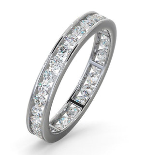 Diamond Eternity Ring Rae Channel Set 1.00ct H/Si in Platinum