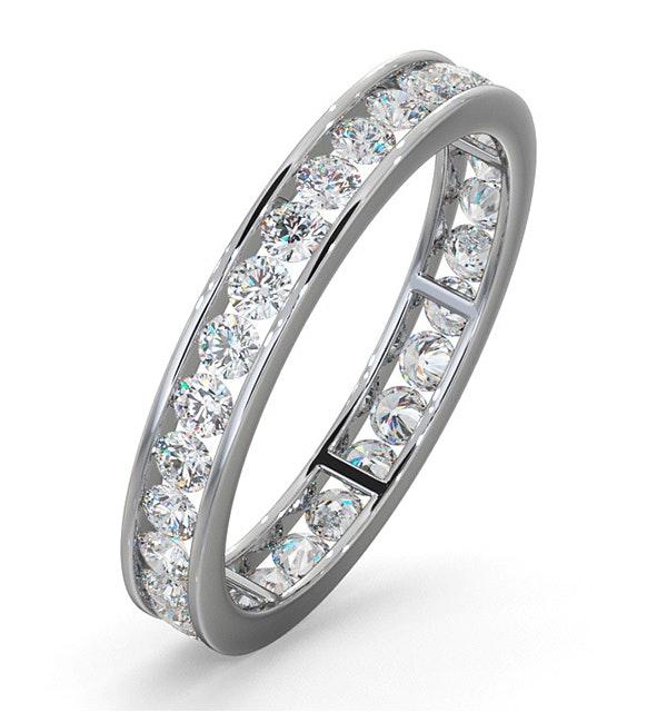 Diamond Eternity Ring Rae Channel Set 1.00ct G/Vs in Platinum - image 1