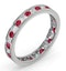 ETERNITY RING RAE DIAMONDS H/SI AND RUBY 1.30CT - Platinum - image 2