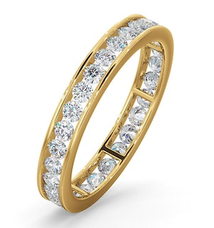 Mens 1ct G/Vs Diamond 18K Gold Full Band Ring Item
