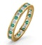 ETERNITY RING RAE DIAMONDS H/SI AND EMERALD 1.20CT - 18K GOLD - image 1