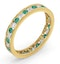 ETERNITY RING RAE DIAMONDS H/SI AND EMERALD 1.20CT - 18K GOLD - image 2