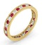 ETERNITY RING RAE DIAMONDS H/SI AND RUBY 1.30CT - 18K GOLD - image 2
