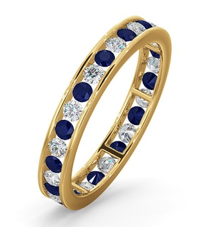 ETERNITY RING RAE DIAMONDS H/SI AND SAPPHIRE 1.40CT - 18K GOLD