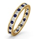 ETERNITY RING RAE DIAMONDS G/VS AND SAPPHIRE 1.40CT - 18K GOLD - image 1