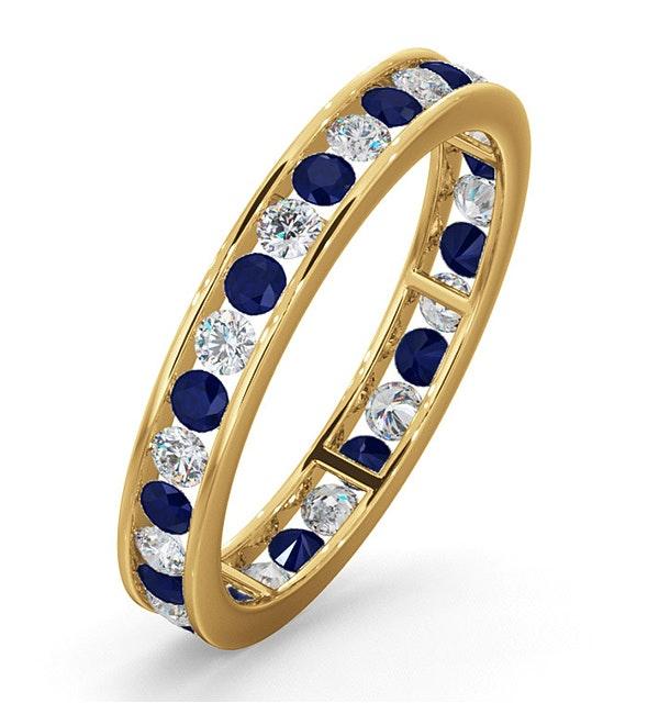 ETERNITY RING RAE DIAMONDS G/VS AND SAPPHIRE 1.40CT - 18K GOLD - image 1