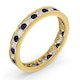 ETERNITY RING RAE DIAMONDS G/VS AND SAPPHIRE 1.40CT - 18K GOLD - image 2