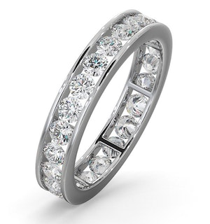 Diamond Eternity Ring Rae Channel Set 1.50ct G/Vs in Platinum