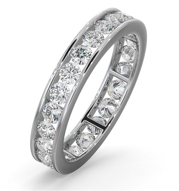 Diamond Eternity Ring Rae Channel Set 1.50ct H/Si in Platinum - image 1