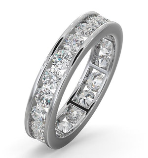 Diamond Eternity Ring Rae Channel Set 2.00ct H/Si in Platinum
