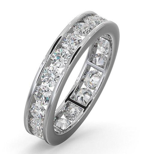 Diamond Eternity Ring Rae Channel Set 2.00ct G/Vs in 18K White Gold - image 1