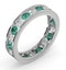 ETERNITY RING RAE DIAMONDS H/SI AND EMERALD 1.70CT - 18K WHITE GOLD - image 2