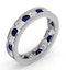 ETERNITY RING RAE DIAMONDS H/SI AND SAPPHIRE 1.90CT - Platinum - image 2