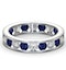 ETERNITY RING RAE DIAMONDS H/SI AND SAPPHIRE 1.90CT - Platinum - image 3