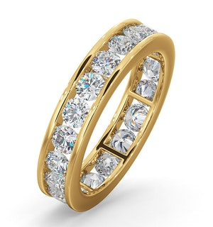 Rae Lab Diamond Eternity Ring Channel Set 2.00ct H/Si in 18K Gold