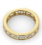 Diamond Eternity Ring Rae Channel Set 2.00ct H/Si in 18K Gold - image 4