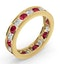 ETERNITY RING RAE DIAMONDS H/SI AND RUBY 1.80CT - 18K GOLD - image 2