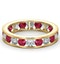 ETERNITY RING RAE DIAMONDS H/SI AND RUBY 1.80CT - 18K GOLD - image 3