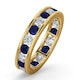 ETERNITY RING RAE DIAMONDS H/SI AND SAPPHIRE 1.90CT - 18K GOLD - image 1