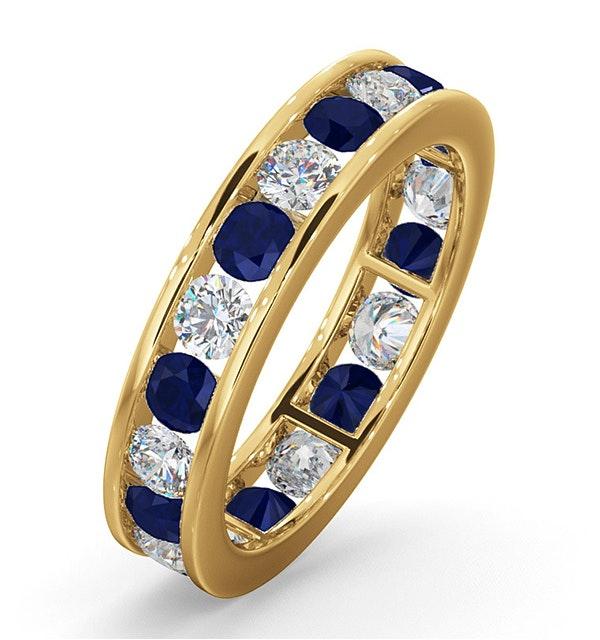 ETERNITY RING RAE DIAMONDS G/VS AND SAPPHIRE 1.90CT - 18K GOLD - image 1