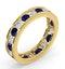 ETERNITY RING RAE DIAMONDS G/VS AND SAPPHIRE 1.90CT - 18K GOLD - image 2