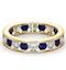 ETERNITY RING RAE DIAMONDS G/VS AND SAPPHIRE 1.90CT - 18K GOLD - image 3