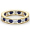 ETERNITY RING RAE DIAMONDS H/SI AND SAPPHIRE 1.90CT - 18K GOLD - image 3