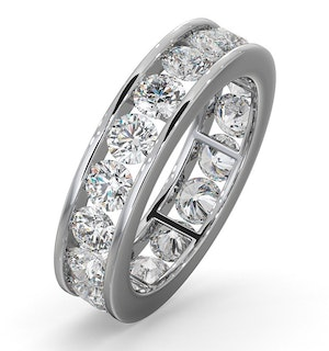 Mens 3ct H/Si Diamond 18K White Gold Full Band Ring  IHG33-522JUY