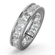 Mens 3ct H/Si Diamond 18K White Gold Full Band Ring  IHG33-522JUY - image 1