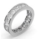 Mens 3ct H/Si Diamond 18K White Gold Full Band Ring  IHG33-522JUY - image 2
