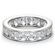 Mens 3ct H/Si Diamond 18K White Gold Full Band Ring  IHG33-522JUY - image 3