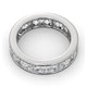 Mens 3ct H/Si Diamond 18K White Gold Full Band Ring  IHG33-522JUY - image 4