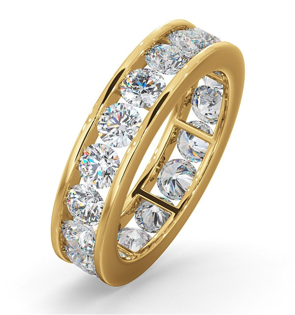 Mens 3ct G/Vs Diamond 18K Gold Full Band Ring  IHG33-522XUA - image 1
