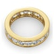 Mens 3ct H/Si Diamond 18K Gold Full Band Ring  IHG33-522JUA - image 4