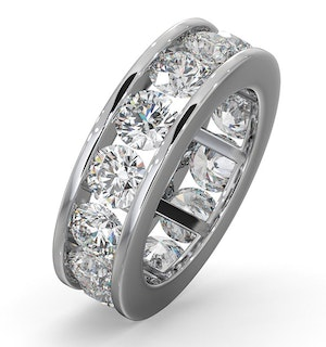 Diamond Eternity Ring Rae Channel Set 5.00ct G/Vs in Platinum