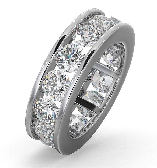 Diamond Eternity Ring Rae Channel Set 5.00ct G/Vs in 18K White Gold - image 1