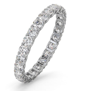 Eternity Ring Chloe Platinum Diamond 1.00ct H/Si
