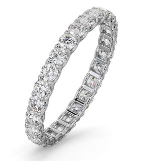 Mens 1ct H/Si Diamond 18K White Gold Full Band Ring  IHG34-322JUY