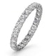 Mens 1ct H/Si Diamond 18K White Gold Full Band Ring  IHG34-322JUY - image 1