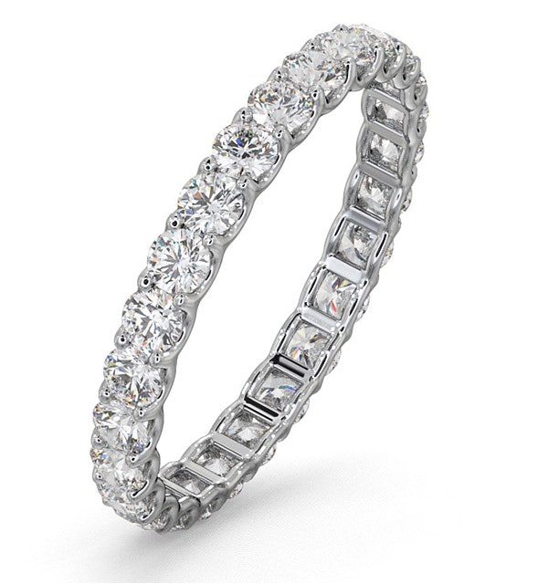 Eternity Ring Chloe Platinum Diamond 1.00ct G/Vs - image 1