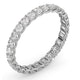 Mens 1ct H/Si Diamond 18K White Gold Full Band Ring  IHG34-322JUY - image 2
