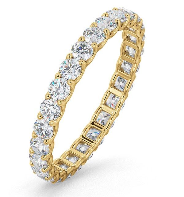 Eternity Ring Chloe 18K Gold Diamond 1.00ct G/Vs - image 1