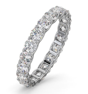 Eternity Ring Chloe Platinum Diamond 2.00ct H/Si