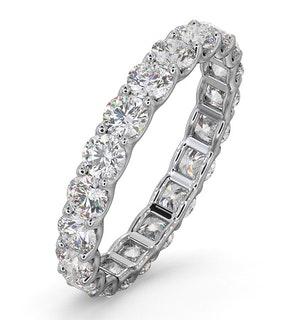 Mens 2ct H/Si Diamond 18K White Gold Full Band Ring