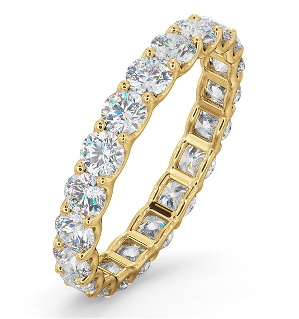 Chloe Lab Diamond Eternity Ring 18K Gold Claw Set 2.00ct H/Si - image 1
